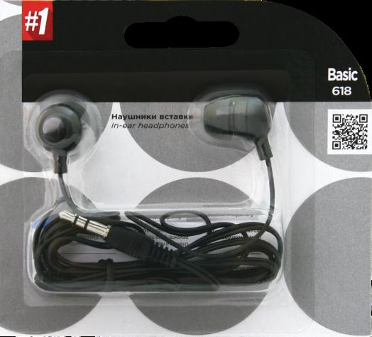 Наушники вакуумные - гарнитура Defender #1 Basic 618 черный