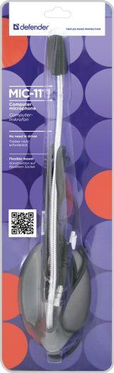 Микрофон ПК Defender MIC-111 серый, кабель 1,5 м