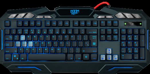 Клавиатура игровая Defender Doom Keeper GK-100DL RU,3-х цветная,19 Anti-Ghost