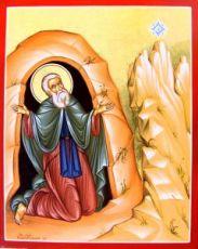 Симон Мироточивый (Симонопетрский) (рукописная икона)