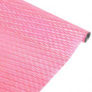 Плёнка голография, розовый, 190 гр, 70 см*7,1 м