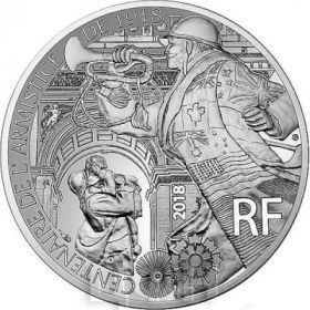 100 лет окончания первой мировой войны 10 евро Франция 2018 серебро на заказ