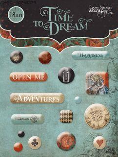 "Набор эпоксидных наклеек  от Scrapmir ""Time to Dream"""