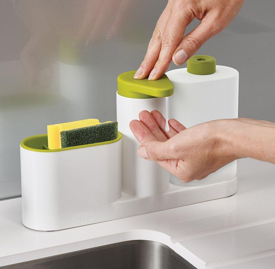 Органайзер для раковины Sink Tidy Sey (3 предмета) (Цвет: Розовый)
