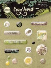 """Набор эпоксидных наклеек от Scrapmir """"Cozy Forest"""""""