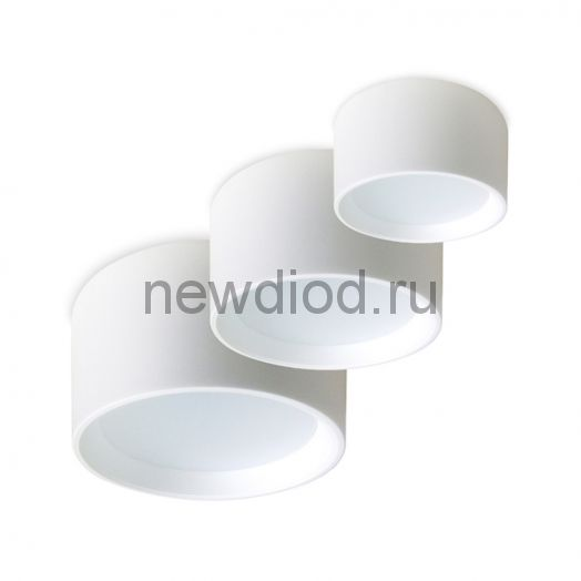 Накладной светильник Drum 10W AC 170-265V (Теплый белый)