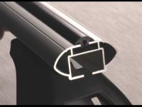 Багажник на крышу Kia Rio (c 2017г, sedan), аэродинамические дуги (53 мм)
