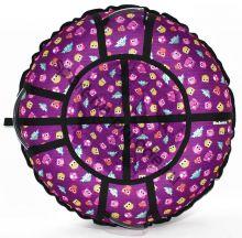 Тюбинг Hubster Люкс Pro Совята фиолетовые 105 см