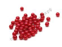 бусины жемчужные 6мм 100шт красные