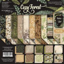 """Набор двусторонней бумаги 20х20см от Scrapmir """"Cozy Forest"""""""