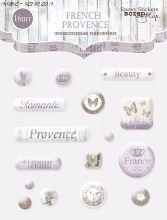 "Набор эпоксидных наклеек от Scrapmir ""French Provence"""