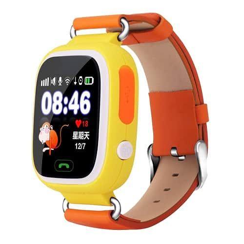 Умные детские часы с GPS Smart Baby Watch Q80 Оранжевые