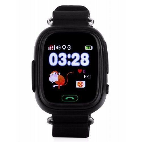 Умные детские часы с GPS Smart Baby Watch Q80 Черные