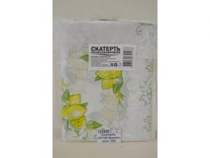 Скатерть п/э 110х220 см  Лимон