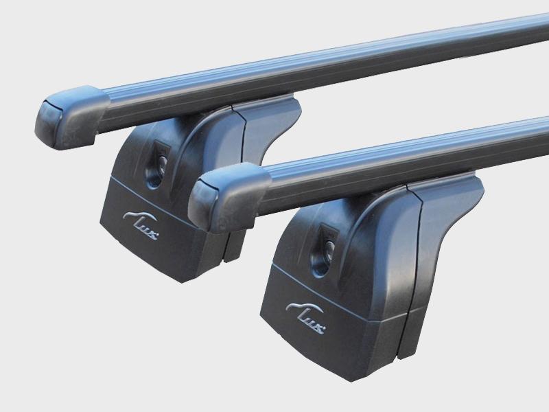 Багажник на крышу Nissan Murano Z52, 2014-..., Lux, стальные прямоугольные дуги на интегрированные рейлинги