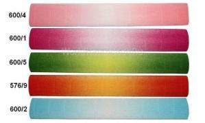 Гофрированная бумага 180 г. переход цвета