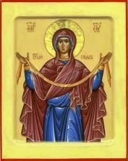 Пояс Пресвятой Богородицы (икона на дереве)