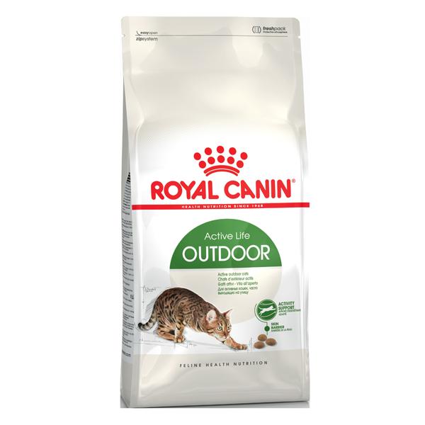 Корм сухой Royal Canin Outdoor для кошек с птицей 0.4кг