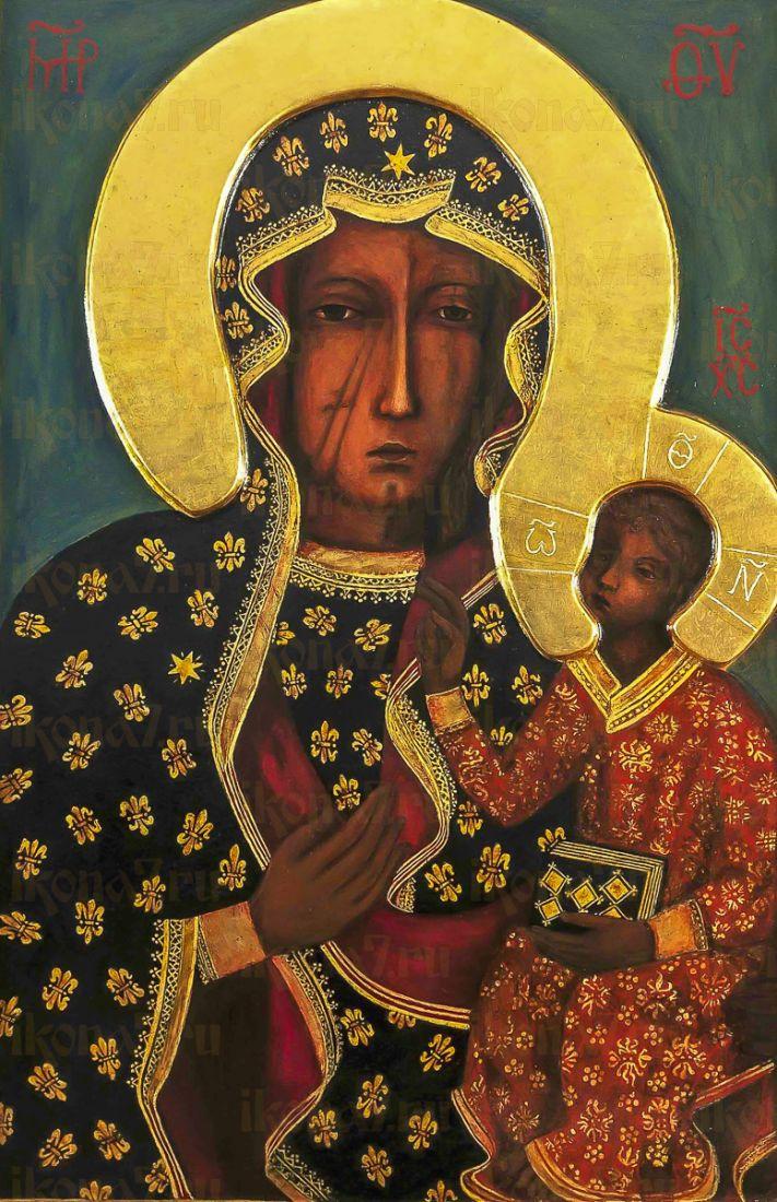 Ченстоховская икона Божией Матери (копия старинной)