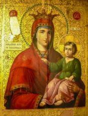 Закланная икона Божией Матери (копия старинной)