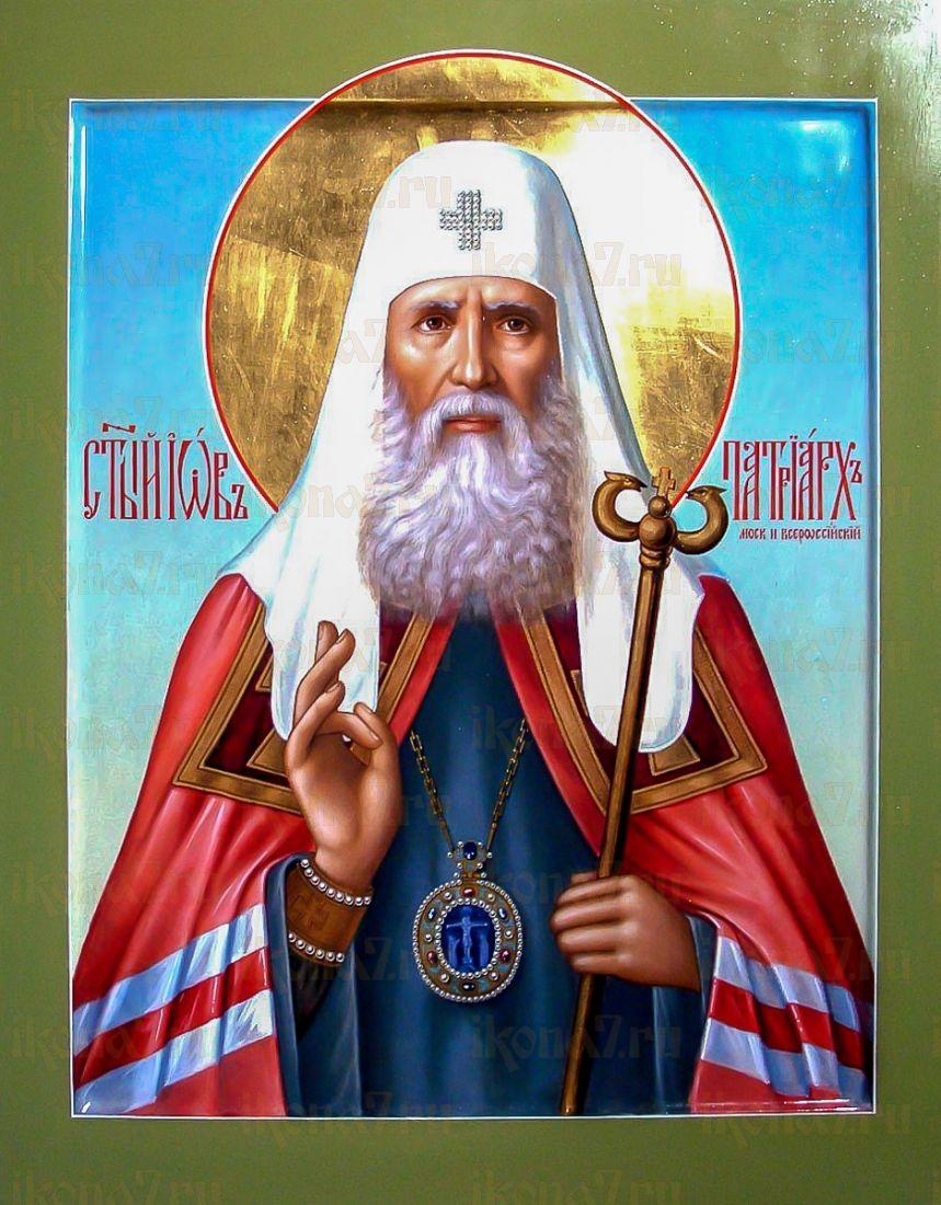 Иов Московский (икона на дереве)