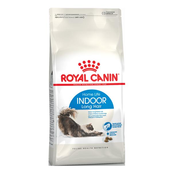 Сухой корм для кошек Royal Canin Indoor Long Hair с птицей