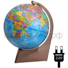 Глобус 21см Глобусный мир политический на треугольной подставке с подсветкой 10278