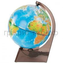 Глобус 21см Глобусный мир физико-политический на треугольной подставке с подсветкой 10289