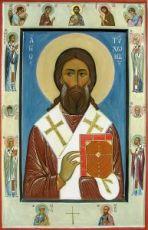 Тихон Никаноров (Воронежский) (икона на дереве)