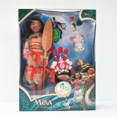 Набор кукла Моана с поющим и светящимся кулоном.