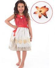 """Платье сарафан """"Моана"""" полинезийская принцесса 3-5 лет"""