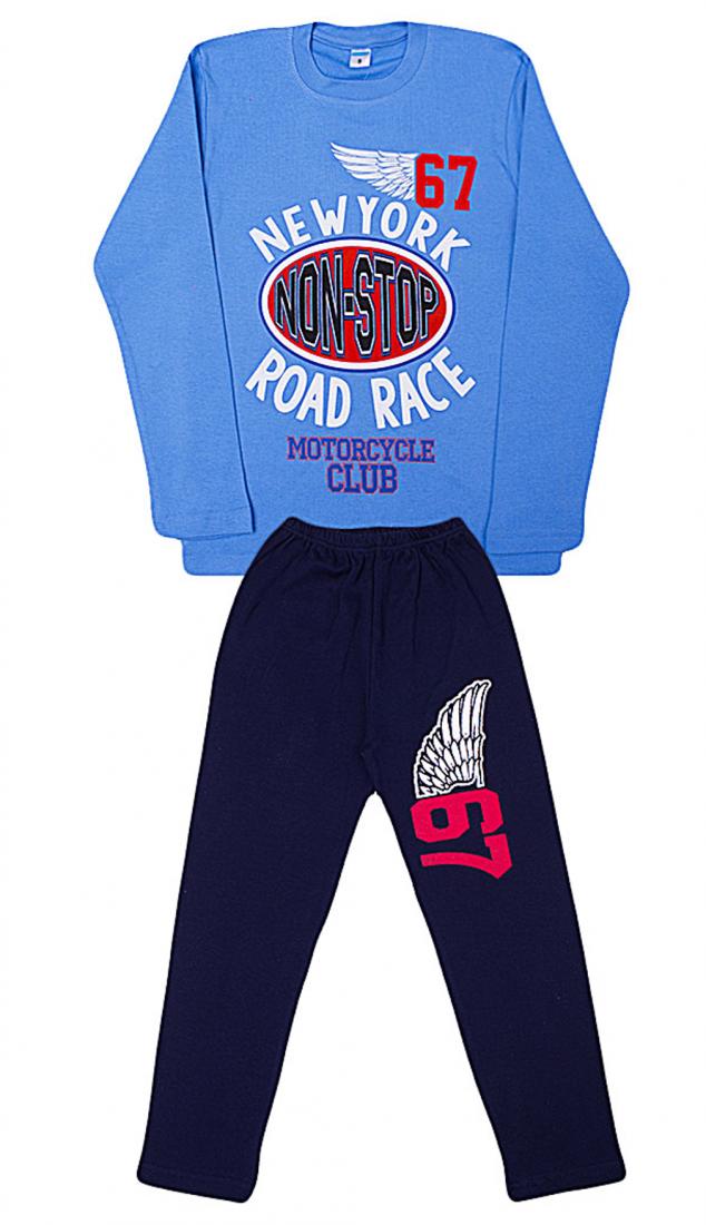 Трикотажная хлопковая пижама для мальчика