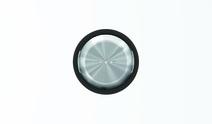 """Клав. для 1-кл. выкл./перекл./кнопок с линзой подсв., кольцо """"чёрное стекло"""" ABB SKY Moon"""