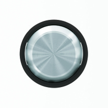 "Клав. для 2-кл. выкл./перекл./кнопок, кольцо ""чёрное стекло"" ABB SKY Moon"