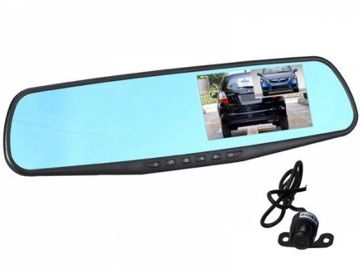 Автовидеорегистратор зеркало + камера Орбита HAD-74