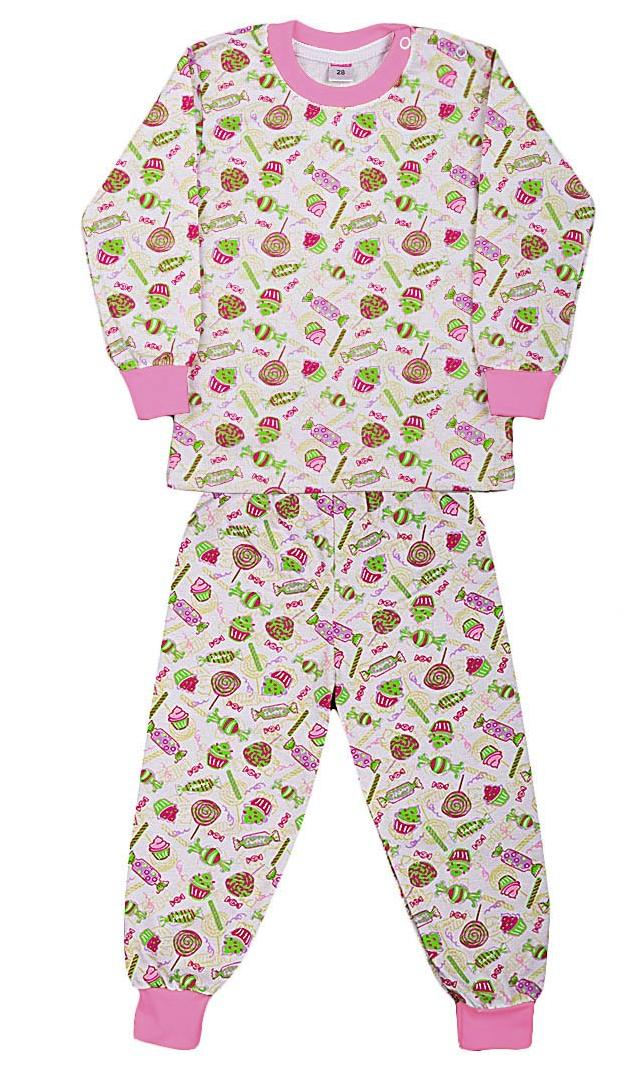 Пижама с начесом для девочки Сладости