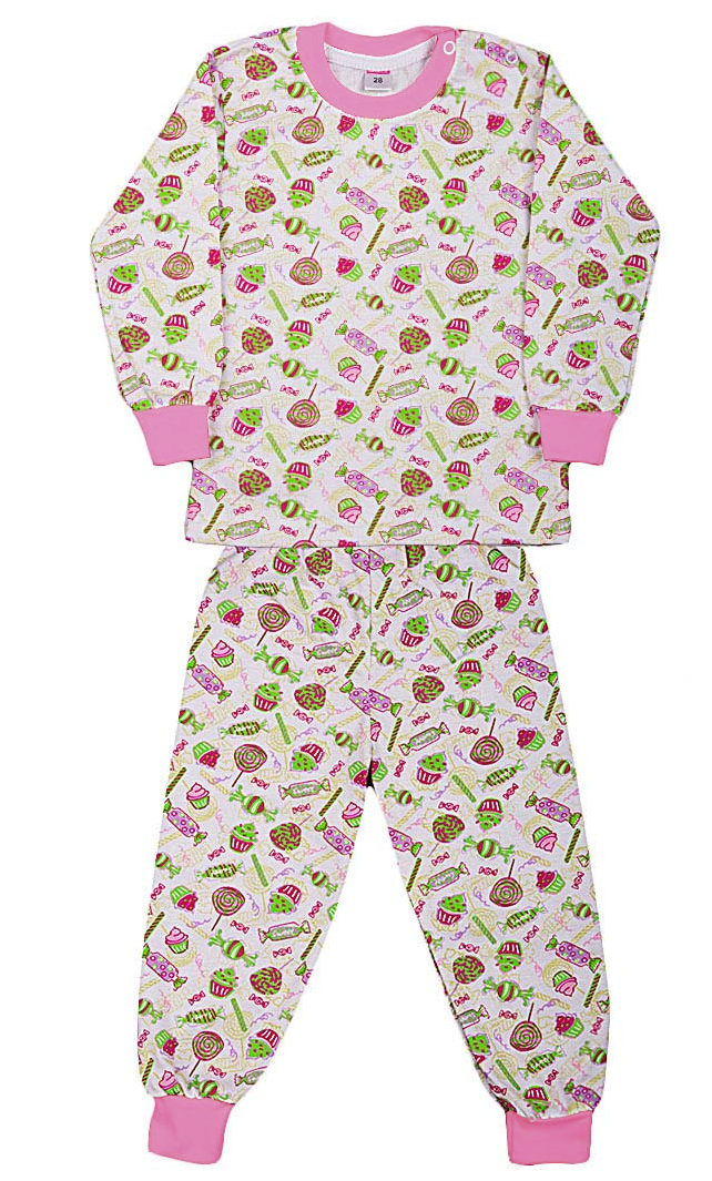 039ddb92d49b Купить теплую пижаму из трикотажа с тонким начесом для девочки ...
