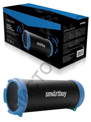 Колонка универс.с радио SmartBuy TUBER MKII MP3-плеер, FM-радио, черн/син (арт.SBS-4400)