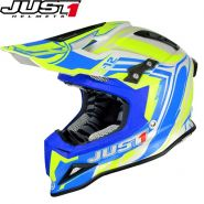 Шлем Just1 J12 Flame MX, Желто-синий