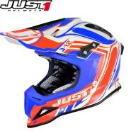 Шлем Just1 J12 Flame MX, Красно-синий