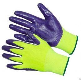Перчатки нейлоновые с нитриловым покрытием (10 пар)