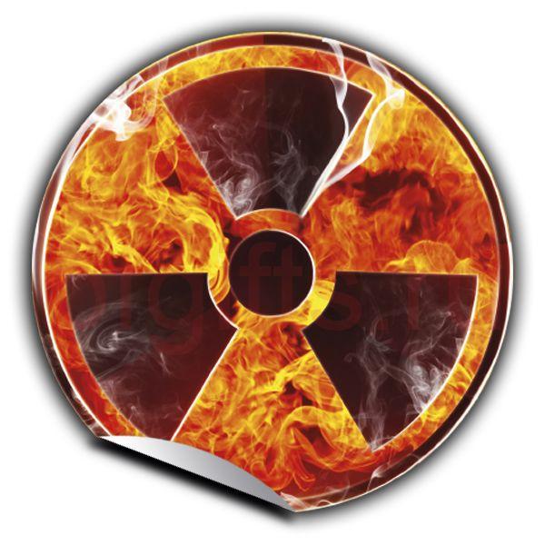 Наклейка Радиация