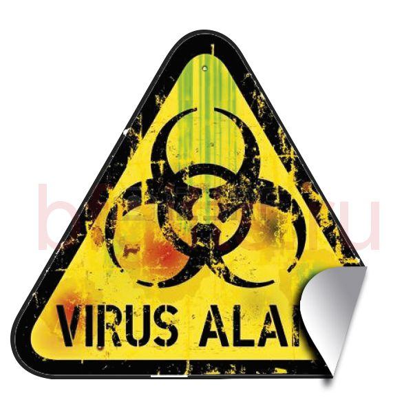 Наклейка Virus alarm