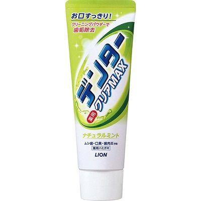 """LION """"Dentor Clear MAX Natural Mint"""" - зубная паста с микрогранулами и ароматом трав и фруктов (отбеливание, защита от кариеса)"""