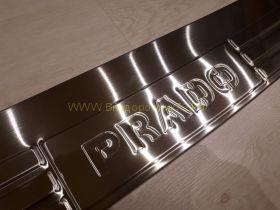 Накладка на задний бампер (Тип 8) для Toyota Land Cruiser Prado 150