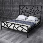 """Кровать двуспальная """"Saltdex"""" черная"""