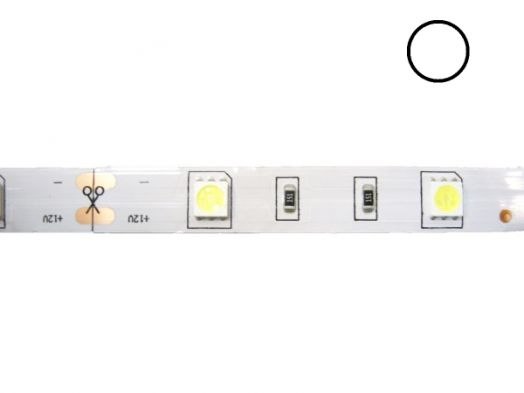 Светодиодная лента Огонёк 5050 Белый (IP20, 30 свд/м) 5м