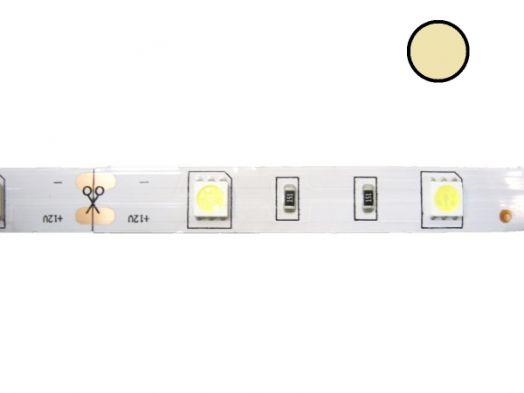 Светодиодная лента Огонёк 5050 Теплый (IP20, 30 свд/м) 5м