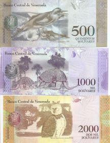 Набор банкнот  Венесуэла 2016-2017 UNC (6 банкнот) Новая серия
