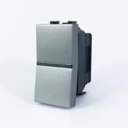 Выкл. 1-кл. 1 мод ABB NIE Zenit Серебро